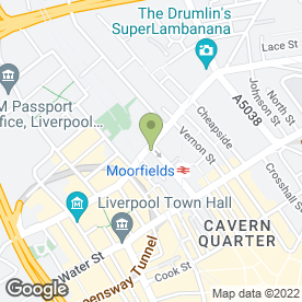 Map of Courier Expert Sameday 24/7 in Liverpool, merseyside