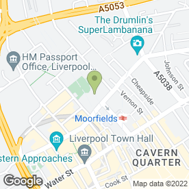 Map of Lloyds TSB Commercial Banking in Liverpool, merseyside
