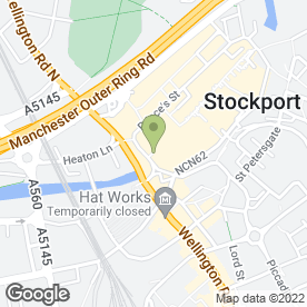 Map of Greggs in Stockport, cheshire
