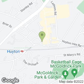 Map of Heron Frozen Foods Ltd in Huyton, Liverpool, merseyside