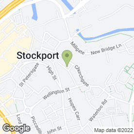 Map of Just Desserts (Northern) Ltd in Stockport, cheshire
