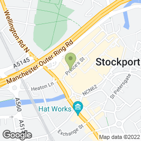 Map of SINO MEDICA in Stockport, cheshire
