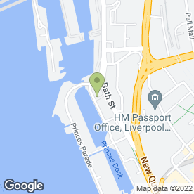 Map of Bean - Princes Dock in Liverpool, merseyside
