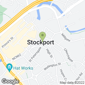 Map of The Queens Head in Stockport, cheshire