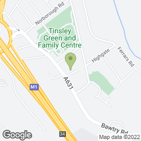 Map of Highgate Surgery in Tinsley, Sheffield, south yorkshire