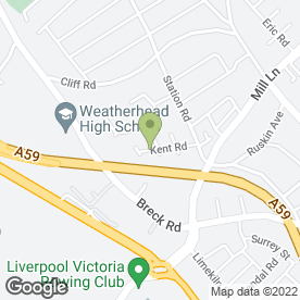 Map of K R Plastering in Wallasey, merseyside