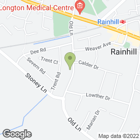 Map of Calder Breaks Ltd in Rainhill, Prescot, merseyside