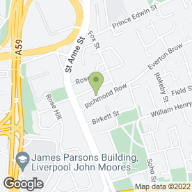 Map of Secure Storage Services Ltd in Liverpool, merseyside