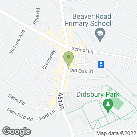 Map of Greggs in Didsbury, Manchester, lancashire