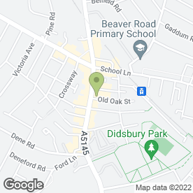 Map of DIDSBURY BEAUTY CLINIC in Didsbury, Manchester, lancashire