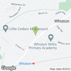 Map of Whiston Glass Ltd in Whiston, Prescot, merseyside