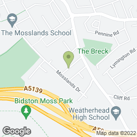 Map of Wallasey Plastering in Wallasey, merseyside