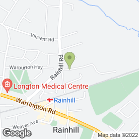 Map of Knowsley Scaffolding in Rainhill, Prescot, merseyside