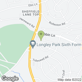 Map of Alpha Couriers in Sheffield, south yorkshire