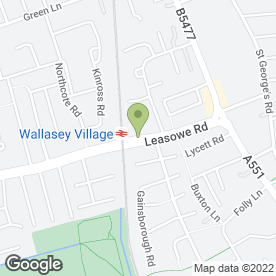Map of Manor Garden Centre in Wallasey, merseyside