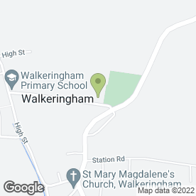 Map of Walkeringham Primary School in Walkeringham, Doncaster, south yorkshire