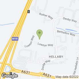 Map of Restover Lodge Hotel Ltd in Hellaby, Rotherham, south yorkshire
