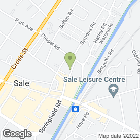 Map of Sale Masonic Hall in Sale, cheshire