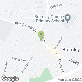 Map of Stonecroft Hotel in Bramley, Rotherham, south yorkshire