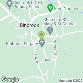 Map of Dr D Bee in Binbrook, Market Rasen, lincolnshire