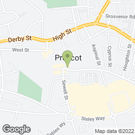 Map of The Red Lion Hotel in Prescot, merseyside