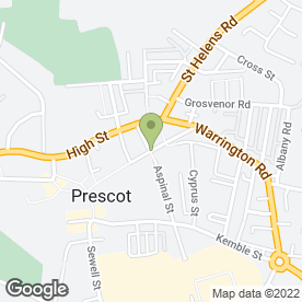 Map of Farrell Heyworth Estate Agents in Prescot, merseyside