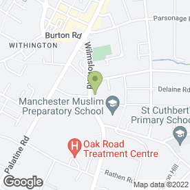 Map of Manchester Muslim Preparatory School in Withington, Manchester, lancashire