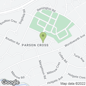 Map of Margetson Surgery in Sheffield, south yorkshire