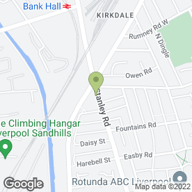 Map of Kiddieland in Kirkdale, Liverpool, merseyside