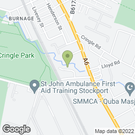 Map of Maths Tutor in Stockport, cheshire