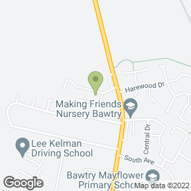 Map of BCS in Bawtry, Doncaster, south yorkshire