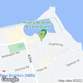 Map of Riverside Bowl & Lazer Quest in Wallasey, merseyside