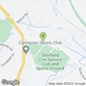 Map of Kitchen Appliance Warehouse in Sheffield, south yorkshire