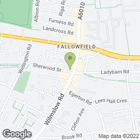 Map of The Orange Grove in Fallowfield, Manchester, lancashire