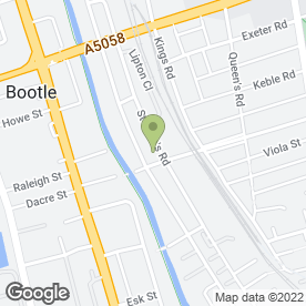 Map of Carina Kitchens & Bedrooms in Bootle, merseyside