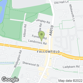 Map of Fallow Cafe in Manchester, lancashire