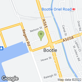 Map of Pirtek Liverpool in Bootle, merseyside