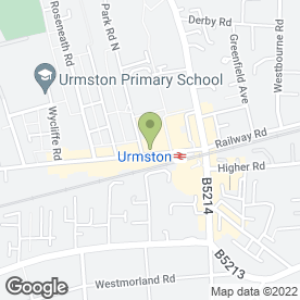 Map of The Chadwick in Urmston, Manchester, lancashire