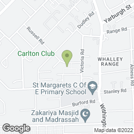 Map of Russell Garage in Manchester, lancashire