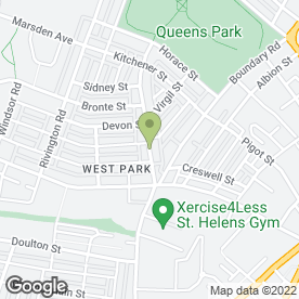 Map of Newtown Dental Centre in St. Helens, merseyside