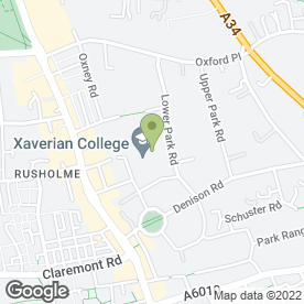 Map of Victoria Park Day Nursery in Rusholme, Manchester, lancashire