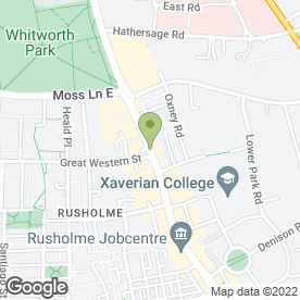Map of Shere Khan Restaurant in Manchester, lancashire