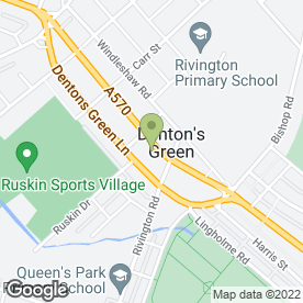 Map of A.E Holland Memorials Ltd in Dentons Green, St. Helens, merseyside