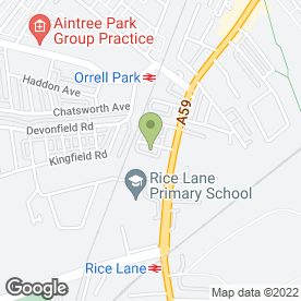 Map of E.A Eady Lawnmower Specialists in Walton, Liverpool, merseyside