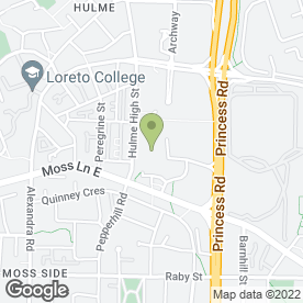 Map of Martial Arts Classes in Manchester, lancashire