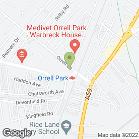 Map of Warbreck House Veterinary in Liverpool, merseyside