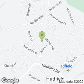 Map of Laluna Technology in Hadfield, Glossop, derbyshire