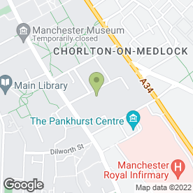 Map of Dr D Baxter in Manchester, lancashire