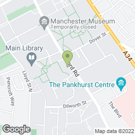 Map of Manchester Rag in Manchester, lancashire