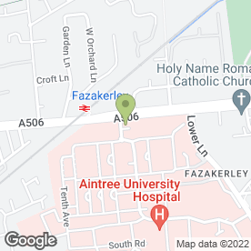 Map of Adams Vet Pet Care Ltd in Liverpool, merseyside